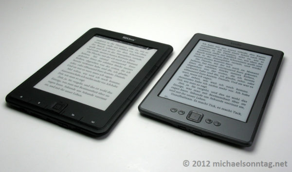 Trekstor Pyrus vs Kindle 4