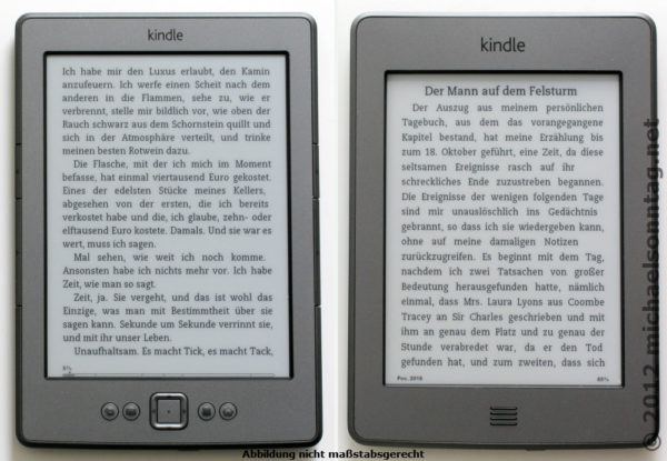 Kindle 4 vs. Kindle 4 Touch