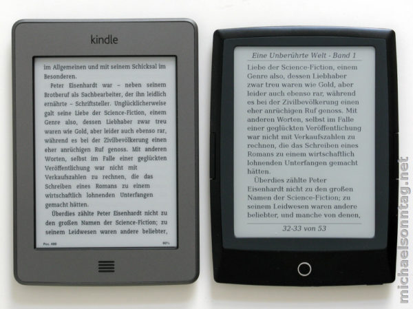 Kindle Touch vs. Cybook Odyssey