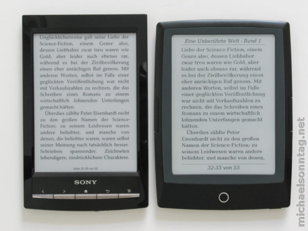 Kindle Vs Sony Reader: Kindle Touch Vs. Sony PRS-T1 Vs. Cybook Odyssey