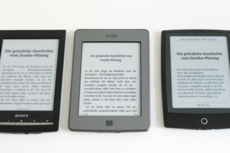 Sony PRS-T1 vs. Kindle Touch vs. Cybook Odyssey