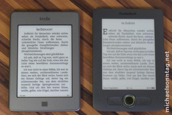 PocketBook 613 - Vergleich zum Kindle Touch