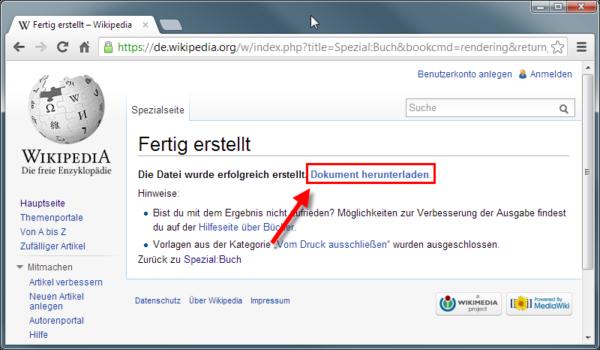 Wikipediaeintrag als eBook - Buch herunterladen