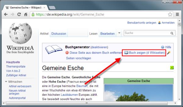 Wikipediaeintrag als eBook - Buch zeigen