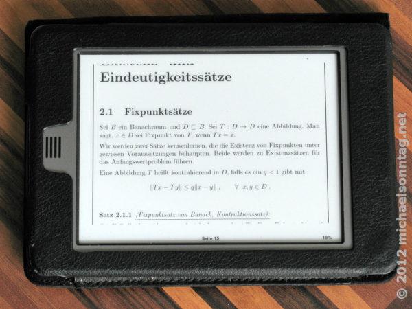 Vorlesungsskript als PDF im Querformat