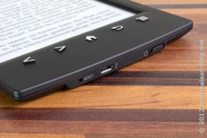 Sony PRS-T2 - Tasten und Anschlüsse