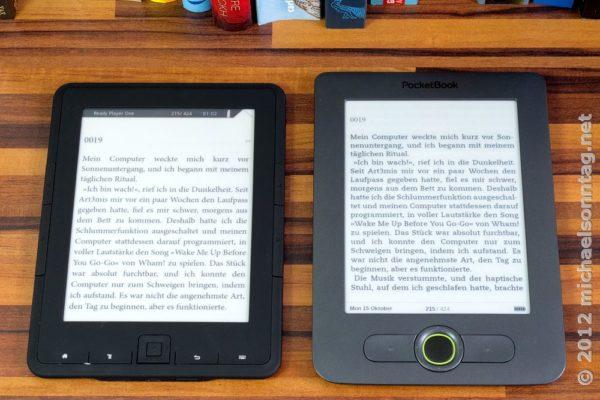 Trekstor 4ink vs. PocketBook 613