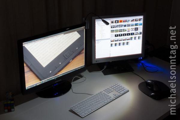 WEDO LED-Leselampe - am Monitor
