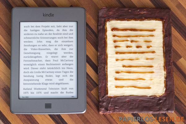 ChocoWhite - Vergleich Schriftbild mit Kindle Touch