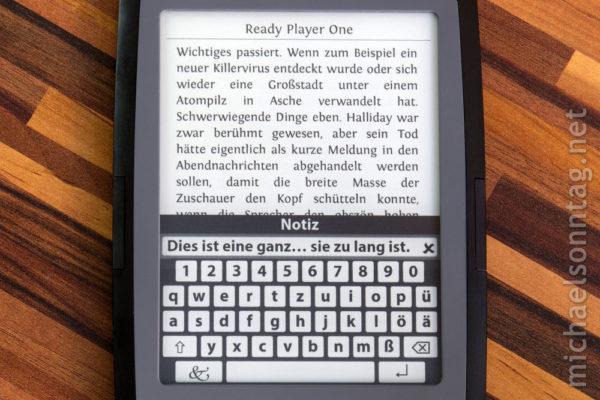 Cybook Odyssey HD Frontlight - Eingabe und Anzeige von Anmerkungen