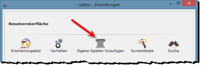 eBooks sortieren - Calibre - Eigene Spalten hinzufügen