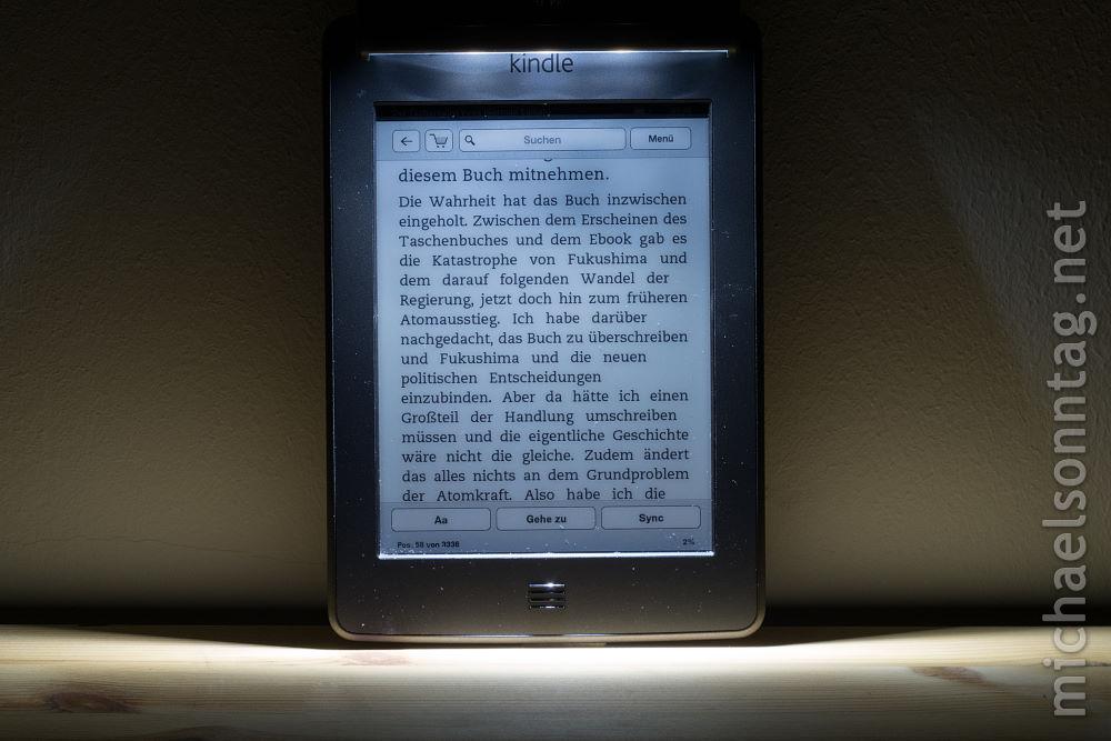 iLumaLight - Ausleuchtung an Kindle Touch (modifiziert)