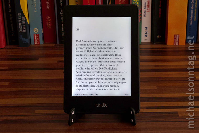 Kindle Paperwite - Beleuchtung