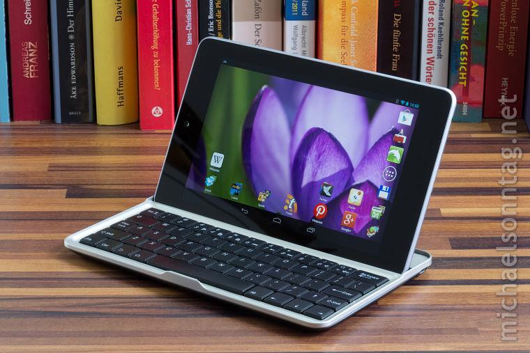 Kabellose Bluetooth Tastatur für Google Nexus 7