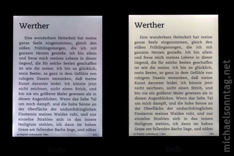 links: Paperwhite 1 - rechts: Paperwhite 2