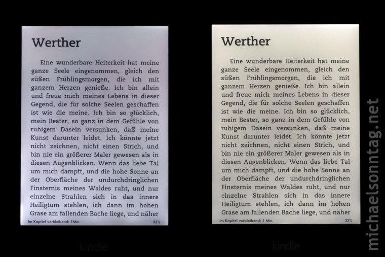 links: Paperwhite 1 - rechts: Paperwhite 2