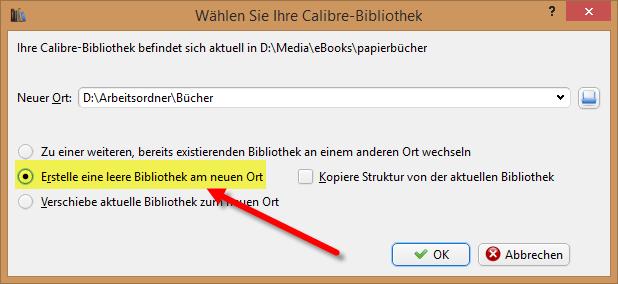 Calibre_neue_Bibliothek_anlegen