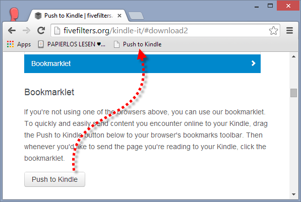 Push to PocketBook-Bookmarklet