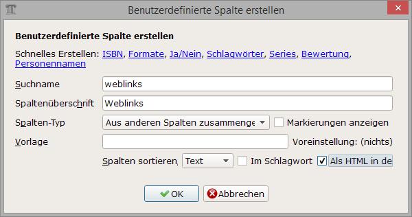 calibe_eigene-spalte_weblinks