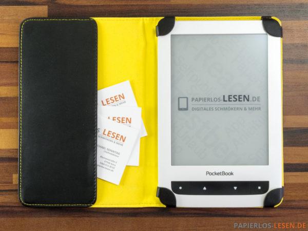 """PocketBook-Hülle """"Dots"""" - aufgeklappt"""