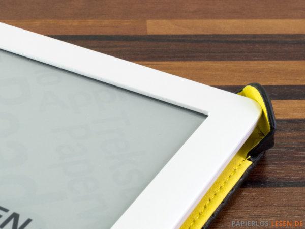 """PocketBook-Hülle """"Dots"""" - aufgeklappte Befestigungsecke"""