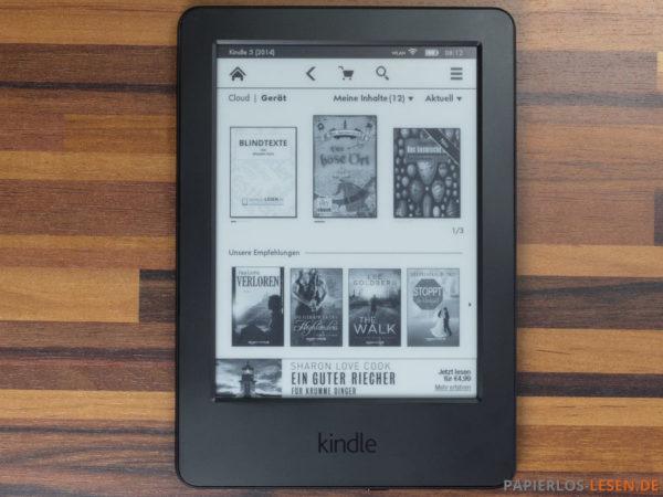 Amazon Kindle (7. Generation) - Werbung auf der Startseite (trotz eigeschalteter Empfehlungen)