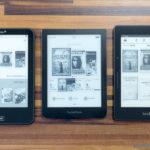 Tolino Vision 2, PocketBook Sense und Kindle Voyage im Vergleich