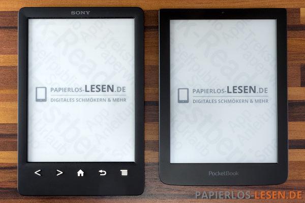 Größenvergleich (links: Sony PRS-T3 - rechts: PocketBook Sense)