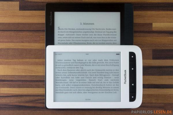 Hintergrund: InkPad - Vordergrund: Touch Lux 2 im Querformat