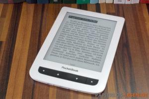 PocketBook Touch Lux 2 mit ausgeschalteter Beleuchtung