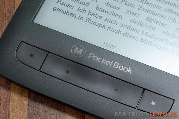 PocketBook_M_626_Tasten-und-Logo
