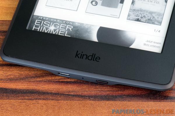 Kindle Paperwhite: Das Logo auf der Front ist nun schwarz