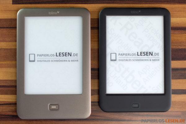 Größenvergleich Tolino Shine (links) und Tolino Shine 2 HD (rechts)