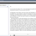 Adobe Digital Editions: Leseansicht mit Inhaltsverzeichnis