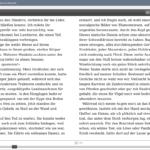 Adobe Digital Editions: Zweispaltig