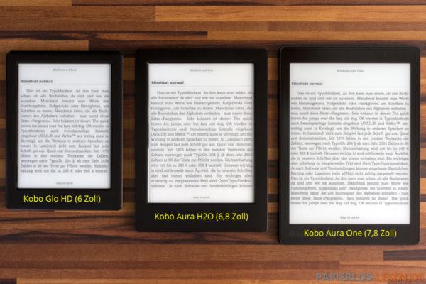 Displayvergleich mit Glo HD und Aura H2O