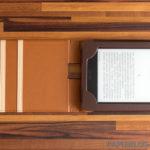 MoKo vertikale Kunstledertasche - aufgeschlagen