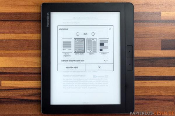 Darstellungsoptionen bei PDF-Dokumenten