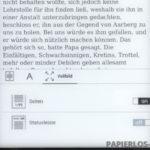 Texteinstellungen: Vollbild