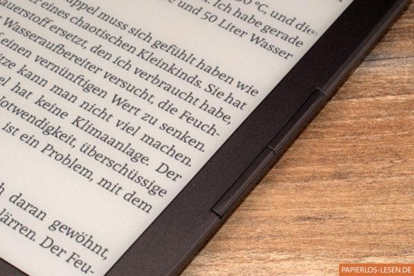 InkBook Classic 2 - Seitliche Blättertasten