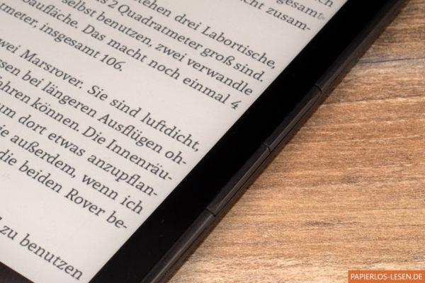 InkBook Prime - Seitliche Blättertasten