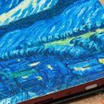 "Pocketbook ""Sternennacht"": Obermaterial im Detail"