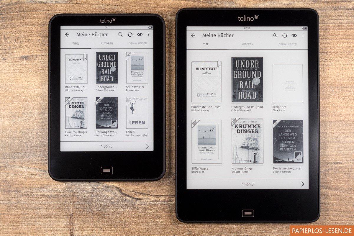 Coverdarstellung In Der Bibliothek Tolino Vision 4 HD Links Epos Rechts