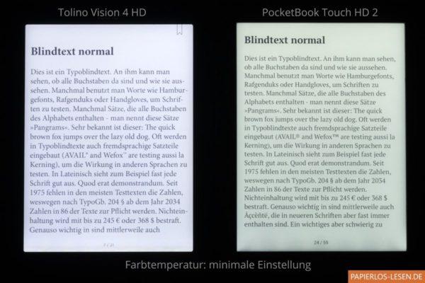 Smartlightvergleich: minimale Farbtemperatur