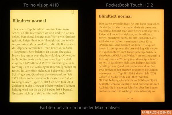 Smartlightvergleich: maximal mögliche Einstellung der Farbtemperatur (manuell)