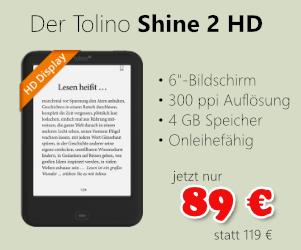 Tolino Shine 2 HD für 89 €