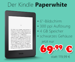 Kindle Paperwhite für 69,99 €