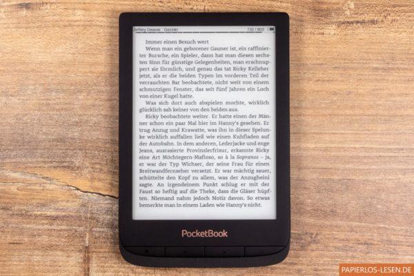 Touch Lux 4 mit installiertem Cool Reader