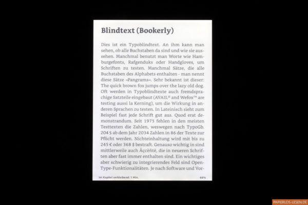 Kindle Paperwhite (10. Generation): Ausleuchtung des Bildschirms