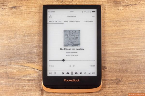 Der Audiobookplayer in Aktion